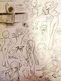 Drawing Expressions, Art Inspiration Drawing, Art Drawings Sketches Simple, Art Poses, Drawing Reference Poses, Drawing Base, Human Art, Cartoon Art Styles, Character Drawing