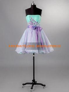 Trägerlos A-linie Süßes Wunderschönes Brautjungfernkleider aus Organza