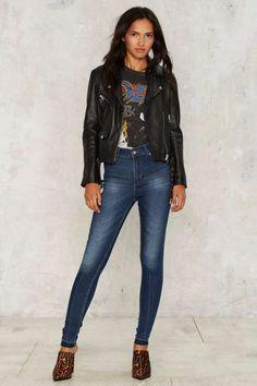 Cheap Monday High Spray Skinny Jeans - True Blue