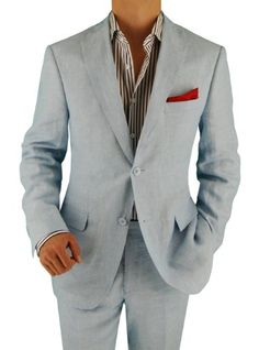 Bianco Brioni Made in Italy Men's Linen Modern Fit 2 Button Suit 8 Colors (40 Long, Sky Blue) Bianco Brioni,http://www.amazon.com/dp/B00F3LOV6K/ref=cm_sw_r_pi_dp_2uy7sb1BA56KF9XW