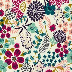 Rashida Coleman-Hale Koi The Way Of Flowers ORGANIC VOILE [C9F-Koi-TheWayOfFlowers-Voile] - $14.95 : Pink Chalk Fabrics is your online source for modern quilting cottons and sewing patterns., Cloth, Pattern + Tool for Modern Sewists