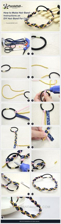 How to Make Hair Band - Instructions on DIY Hair Band for Girls