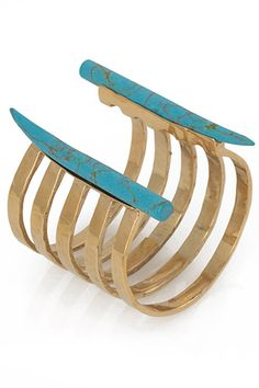16 Pieces Of Investment-Worthy Kelly Wearstler Jewelry  #refinery29  http://www.refinery29.com/kelly-wearstler-shopping#slide-4  Kelly Wearstler Banded Horn Cuff, $225, available at Kelly Wearstler.