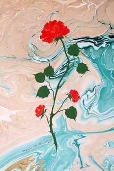 Ayla Makas, Floral Ebru / © Ayla Makas