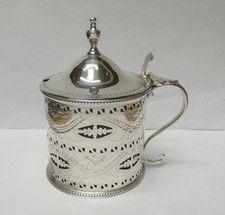 Antique Silver Mustard Pot by Hester Bateman