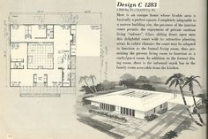 Vintage house plans, house plans, mid century house plans another cool MCM house. I used to dream of living in a house like this! Vintage House Plans, Modern House Plans, House Floor Plans, Modern Houses, The Plan, How To Plan, Home Design Plans, Plan Design, 1960s House