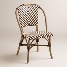 One of my favorite discoveries at WorldMarket.com: Brown and Cream Clarabella Cafe Chairs, Set of 2