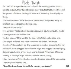 *~Hunger Games Plot Twist~*
