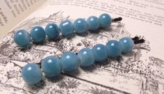 Turquoise Blue Bobby Pins by JMEBeads on Etsy