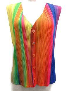 pleats please rainbow
