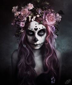 I actually like this flower arrangement headpiece for DotD costume, put a veil on it