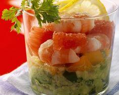 Zucchine, ricotta e gamberi al bicchiere | Cucina