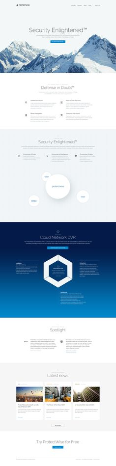 ProtectWise Homepage #webdesign