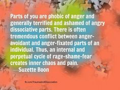 Being afraid of anger and conflict is pretty common in people with Dissociative Identity Disorder - especially hosts/ANPs