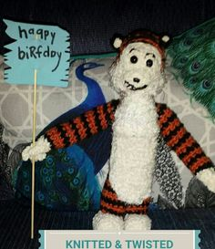 HOBBES - Taylor's 6th birthday gift! Birthday Gifts, Christmas Ornaments, Holiday Decor, Home Decor, Amigurumi, Birthday Presents, Birthday Favors, Christmas Ornament, Interior Design