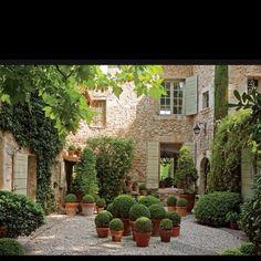 Lovely European courtyard