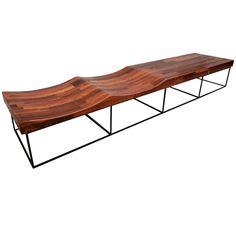 Parquet Brazilian Jacaranda 102 Bench by Jorge Zalszupin | From a unique collection of antique and modern benches at https://www.1stdibs.com/furniture/seating/benches/