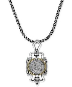 #Balissima by EFFY Sterling Silver and 18k Gold Regal Diamond Pendant (1/6 ct. t.w.)