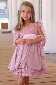 Sweet Pattis Dusty Pink Rose Chiffon with Pleated Bodice Dress    #WhatToWear  #StoryMoon