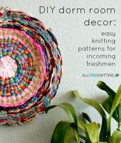 DIY Dorm Room Decor: Easy Knitting Patterns for Incoming Freshman