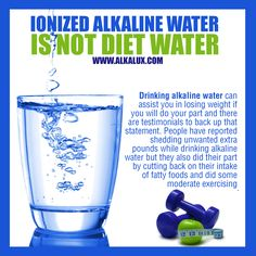 Ionized Alkaline Water is not Diet Water | For more info about Alkaline Water: http://www.alkalux.com/knowledge-base/about-alkaline-water.html