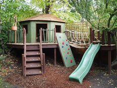 Childrens play treehouse
