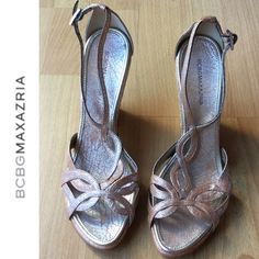 BCBG MAX AZRIA Sandals Absolutely stunning. Practically like new. Excellent used condition/very lightly worn. Very  whimsical and chic. BCBG Shoes