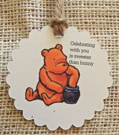 Gift Tags  Classic Winnie the Pooh Party Favor by ToadHollowNJ  #gifttags #winniethepooh #classicwinniethepooh #pooh #poohbear #partyfavortags #favortags #thankyoutags #thankyou #birthdayparty #partydecorations #partysupplies #babyshower #shower #poohshower #toadhollow #toadhollownj
