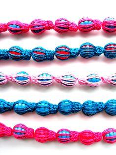 Simple Crocheted Barrels Bracelet HALF PRICE  Was by CrochetPocket, $4.00