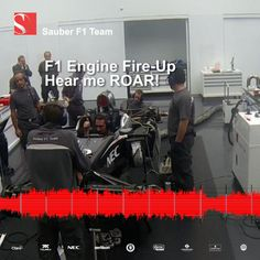 Hear me ROAR! Listen to the fire-up of an engine and learn about the prodecure! Formula One, Design Development, Animated Gif, Vines, Engineering, Sketches, Technology, Drawings, Tech