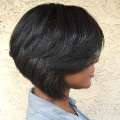 "75 Likes, 1 Comments - Brenda Gee Official (@brendageehair) on Instagram: ""That angle \\\ #bob #bobcut #boblife #bobgrowth #brendageehair #brendageesalon #relaxedhair…"""