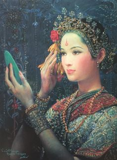 """Vanity"", 1995, oil on canvas, by Chakrabhand Posayakrit, a Thai national artist"