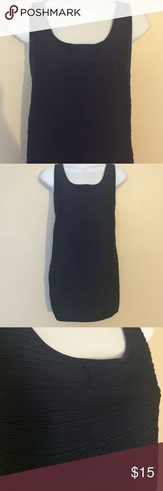 Ann Taylor Navy Tank Ribbed navy material. Worn once. In like new condition. Great for layering at work! Ann Taylor Tops Tank Tops