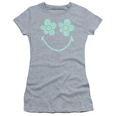 """Checkout our #LicensedGear products FREE SHIPPING + 10% OFF Coupon Code """"Official"""" Smiley World / Flower Face-short Sleeve Junior Sheer-athletic Heather-sm - Smiley World / Flower Face-short Sleeve Junior Sheer-athletic Heather-sm - Price: $34.99. Buy now at https://officiallylicensedgear.com/smiley-world-flower-face-short-sleeve-junior-sheer-athletic-heather-sm"""