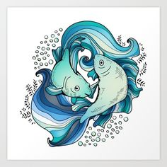 Pisces Art Print by Salome | Society6