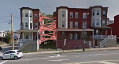 My idea for some urban art where a townhome had to be demolished.  Copyright Ben Samson 2014