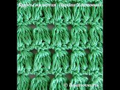 Узор Двойные пышные столбики - Crochet pattern Double lush bars