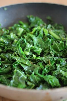 Garlic Cooked Kale - I've used this recipe as a guide for how I cook my kale. I omit the sugar and the nutritional yeast, and add lemon juice. SO delicious!!