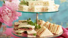 High Tea Sandwiches; Prawn/Dill Roast Beef/Watercress Smoked Salmon/Cucumber