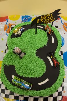 Cars birthday theme but in the number 2 for Sj's bday