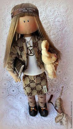 Коллекционные куклы ручной работы. Ярмарка Мастеров - ручная работа МОДНИЦА коллекционная кукла. Handmade.