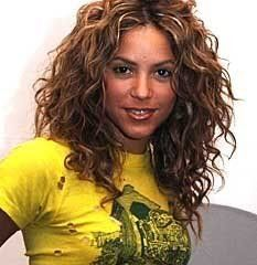 Shakira's curly layers & length