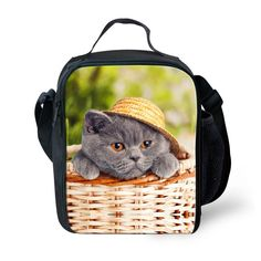 Wholesale Cute Cat Cooler Insulated Eva Cat Lunch Bag For Adults Food