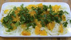 Fennel and orange salad. Looks very simple and delicious.