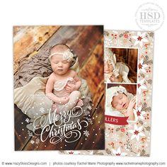 Christmas card template, Newborn babies and Babies on Pinterest