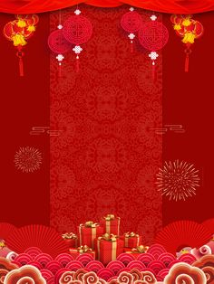 New Years Day Year Red Festive Fireworks Background red festive chinese style pig year spring festival background design Chinese New Year Pictures, Chinese New Year Wallpaper, Chinese New Year Poster, Chinese New Year Design, Chinese New Year Greeting, New Years Poster, Happy Chinese New Year, Chinese Style, Chinese New Year 2020