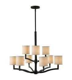 Feiss Stelle 9 Light Chandelier in Oil Rubbed Bronze F2520/6+3ORB #feiss #murrayfeiss #lightingnewyork #lighting