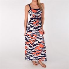 Soprano Juniors Printed Maxi Dress with Cutout Sides #VonMaur  A great addition to my summer wardrobe:)