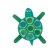 Mosaic Turtle Magnet Craft Kit - OrientalTrading.com