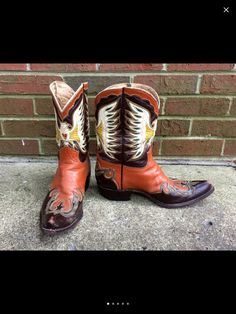 Your place to buy and sell all things handmade Custom Cowboy Boots, Custom Boots, Cowgirl Boots, Barn Dance, No Plastic, Leather Heels, Cowboy Art, Pairs, Fancy